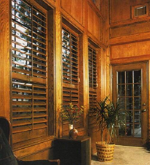 Plantation Custom Stained Shutters