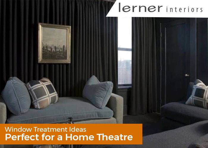 Window Treatment ideas for Home Theatre