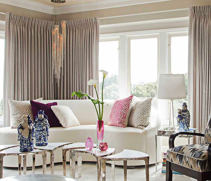 Stylish linen drapes