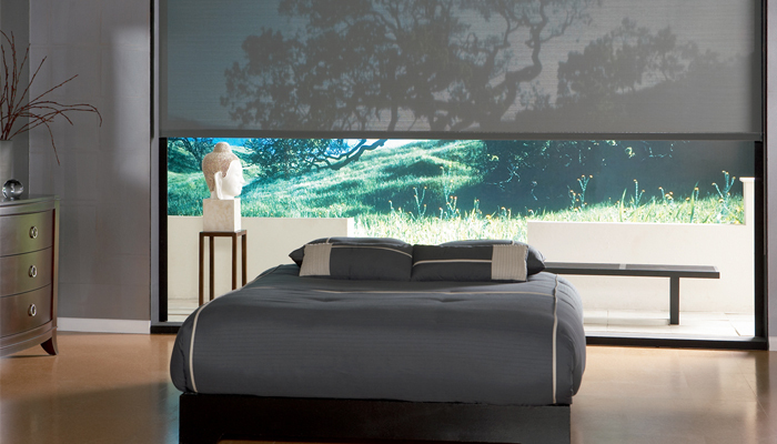 Solar blinds for bedroom