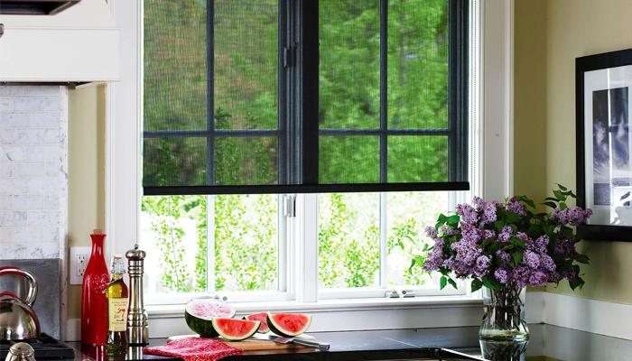 Solar blinds for kitchen