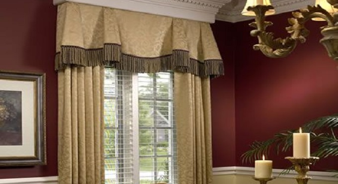 Tailored Valance with Panels