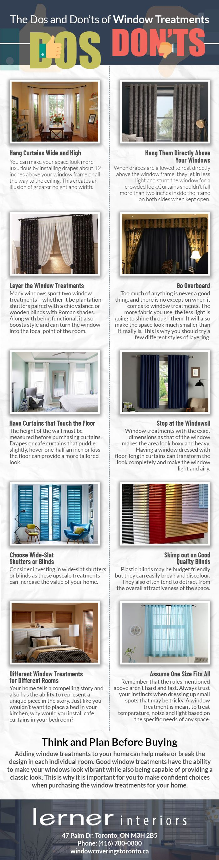 The Dos and Don'ts of Window Treatments