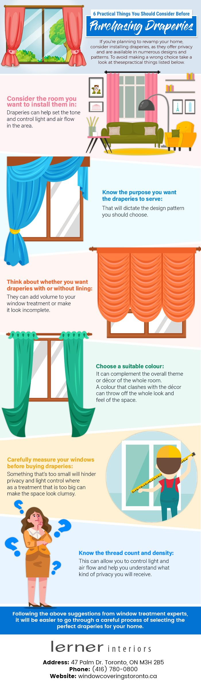 6 Things to Consider Before Purchasing Draperies