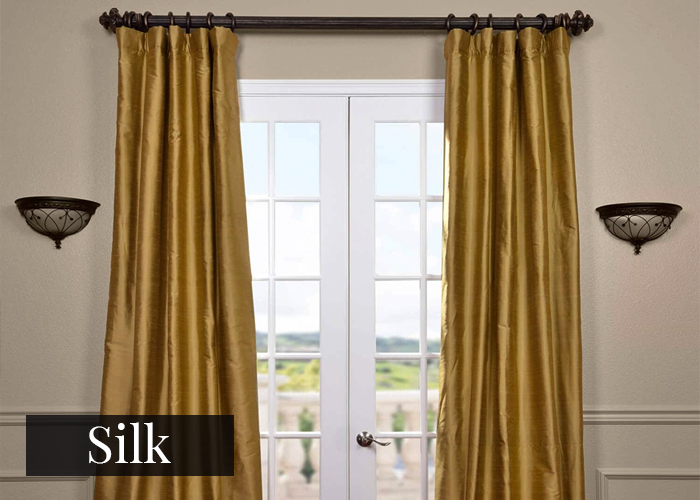 silk curtain fabric